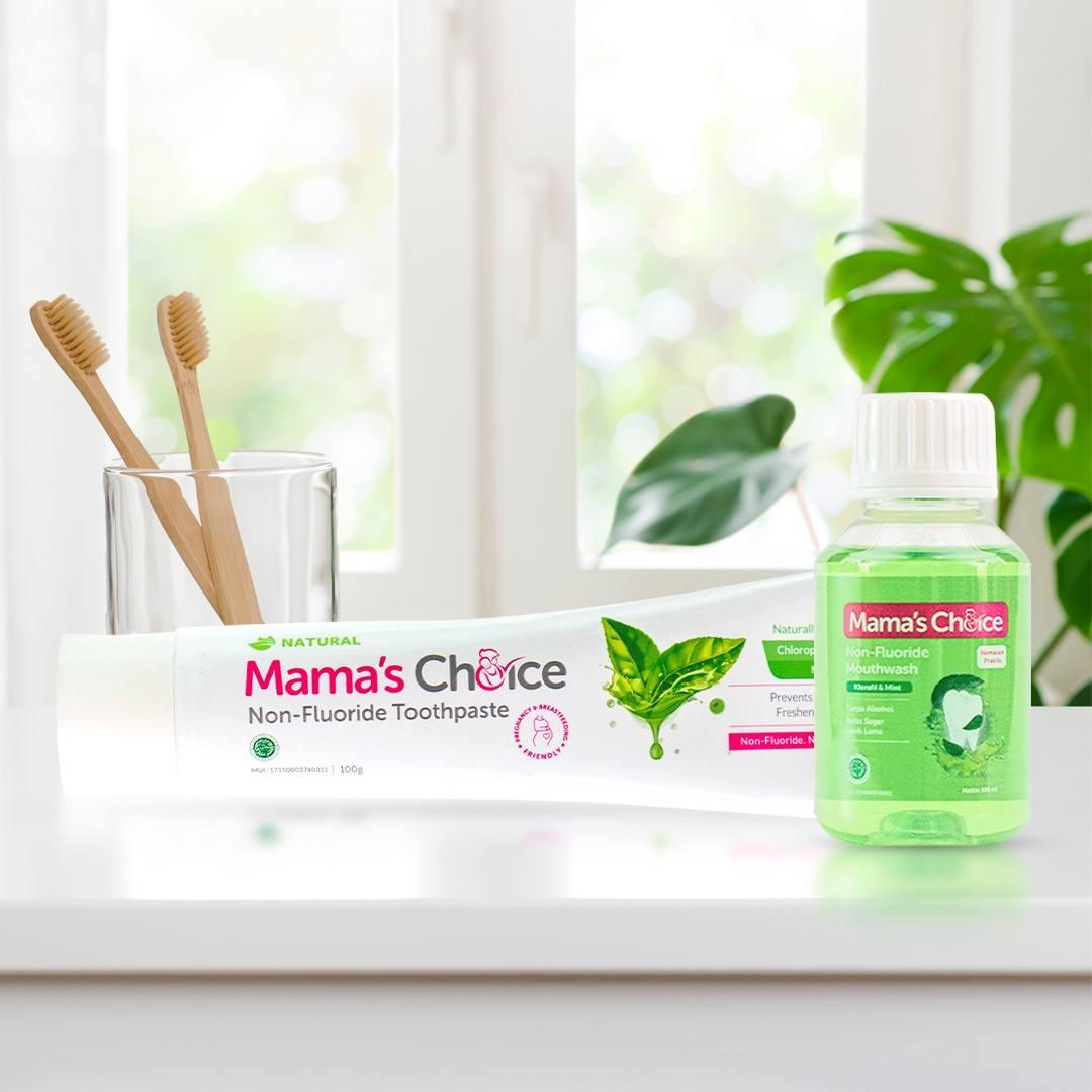 kemasan baru pasta gigi dan mouthwash Mama's Choice