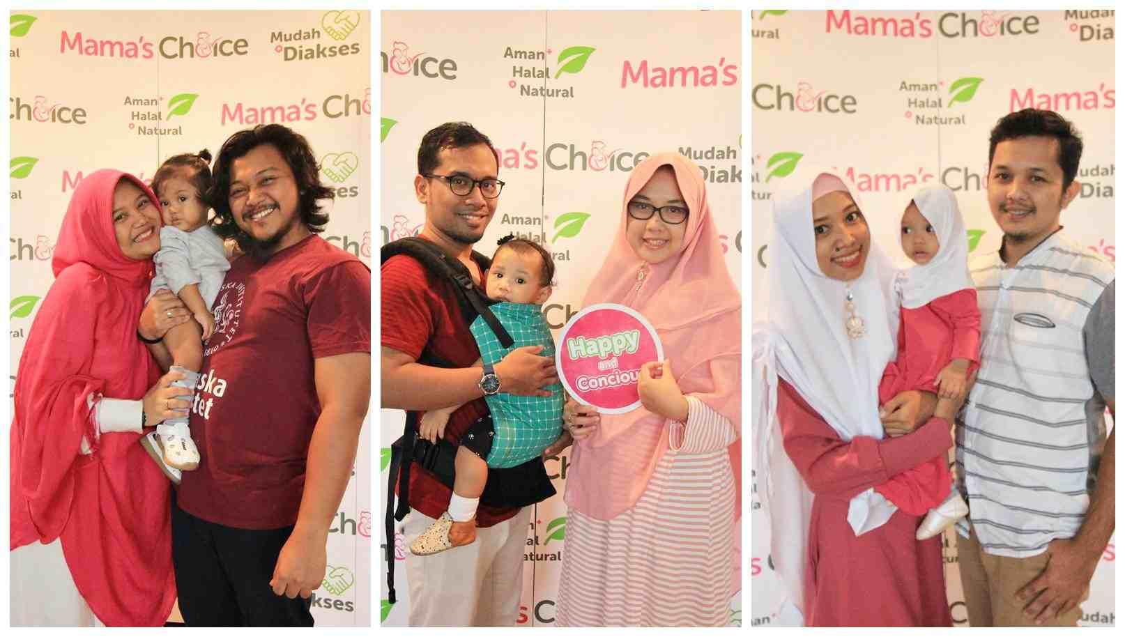 Potret Mama bersama dengan anak dan suaminya