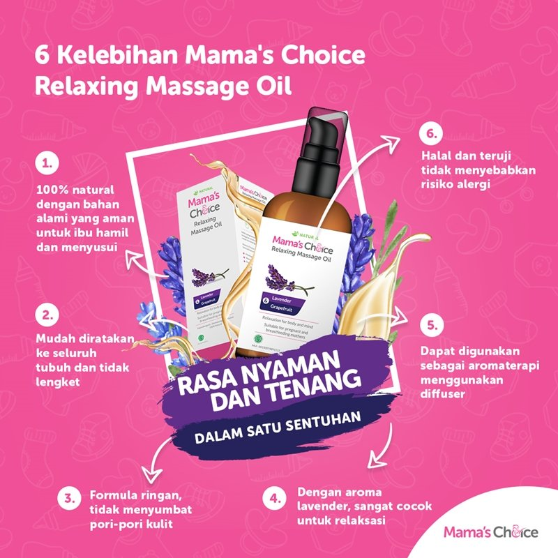 Mama's Choice Relaxing Massage Oil