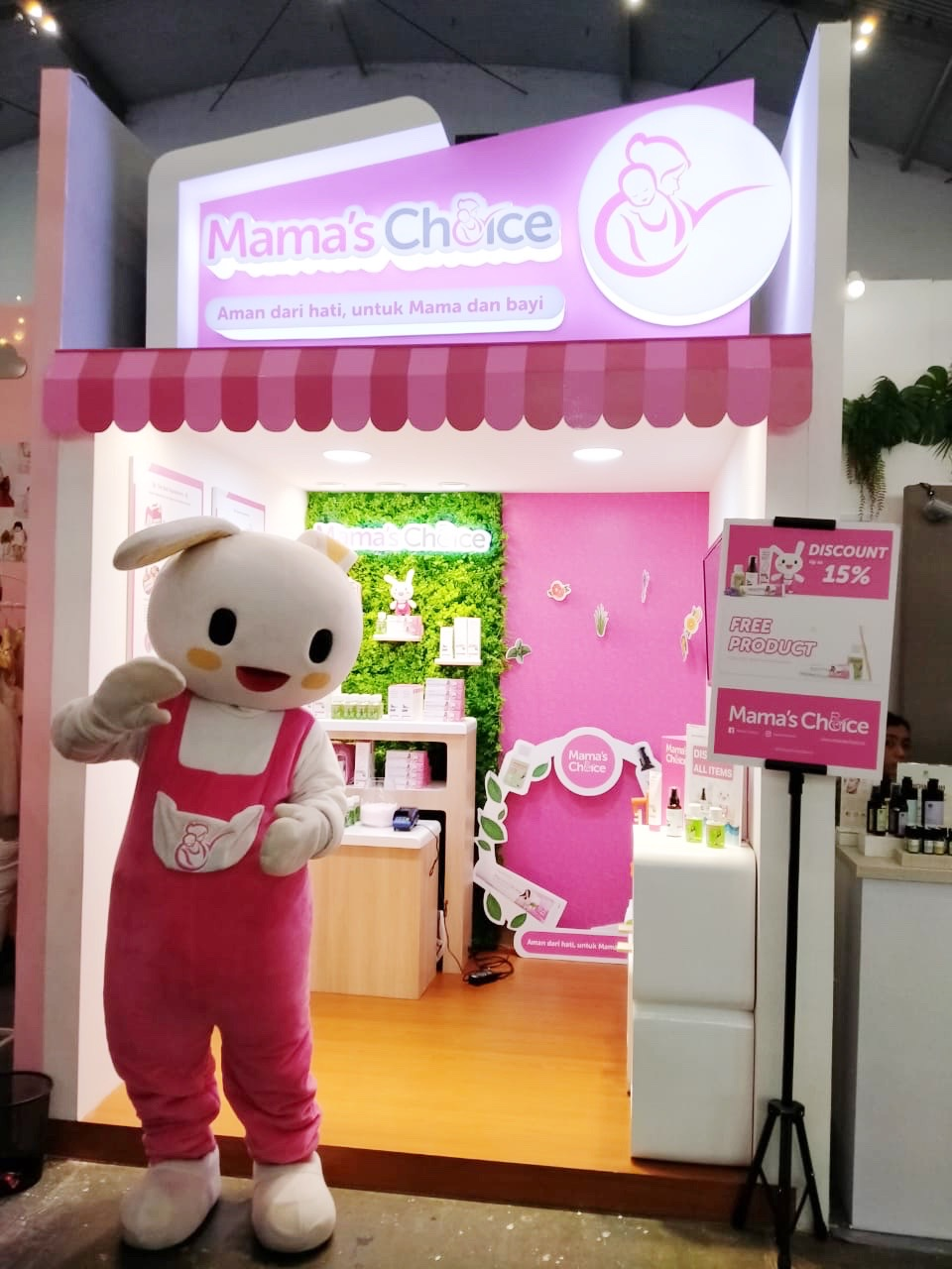 Booth Event Mama's Choice at Parentstory
