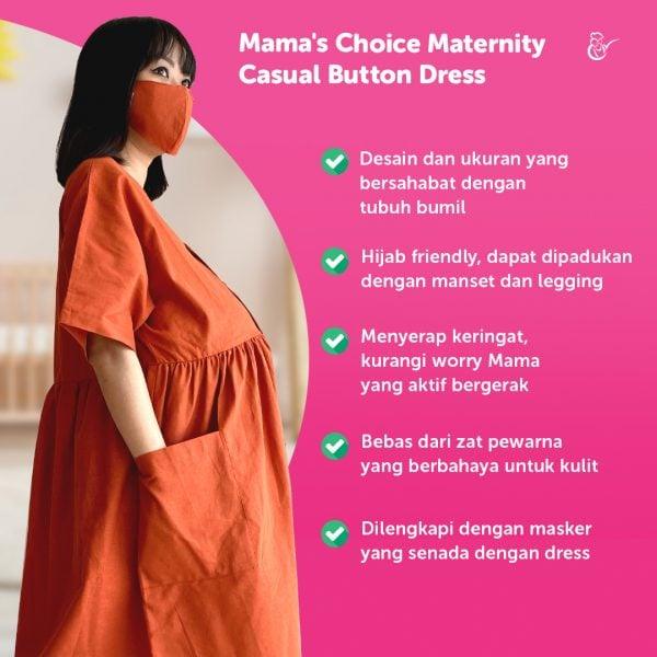 dress ibu hamil modis dan nyaman