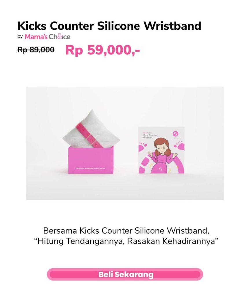 cegah stillbirth dengan kicks counter silicone wristband