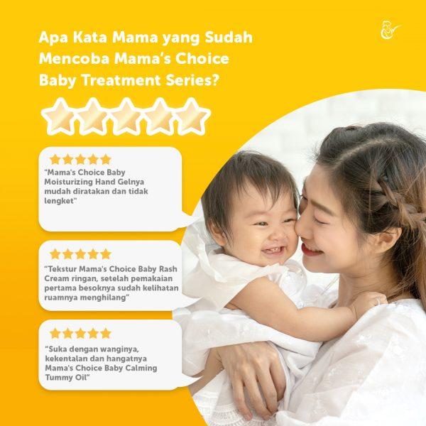 review Mama's Choice Baby Treatment Series, paket perawatan bayi yang aman dan Halal