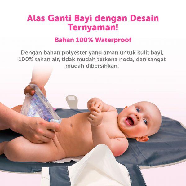 perlak lipat alas ganti popok bayi portabel