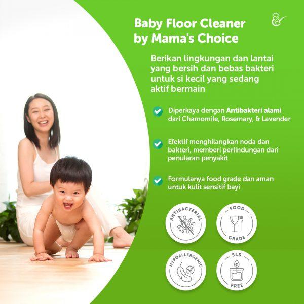 Mama's Choice baby floor cleaner, pembersih lantai aman untuk bayi
