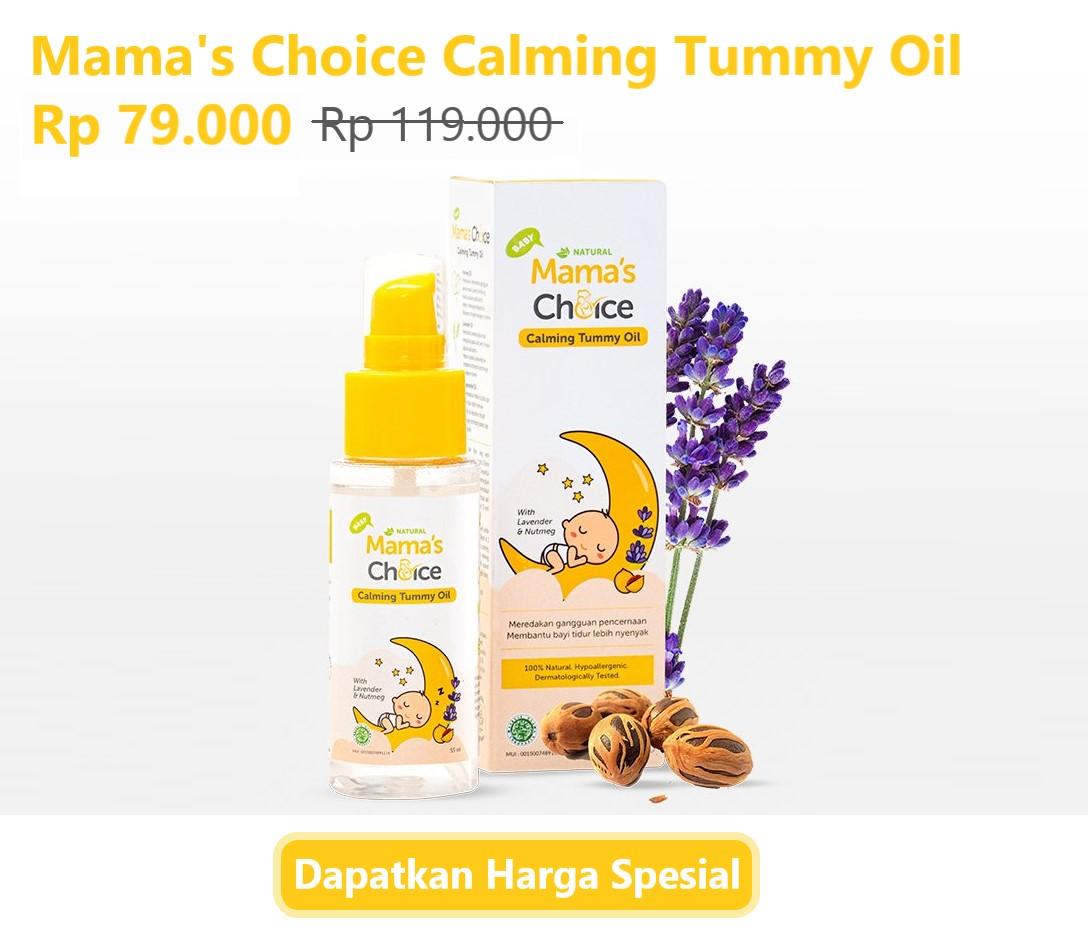 Mama's Choice Calming Tummy Oil minyak telon untuk kolik