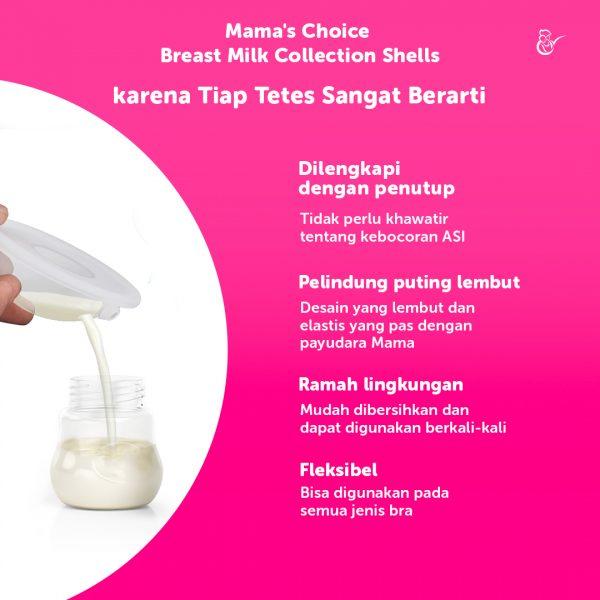 Breast Milk Shell Mama's Choice Alat Penampung ASI Bocor