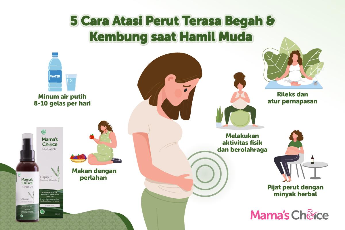 5 Cara Mengatasi Perut Begah dan Kembung saat Hamil Muda