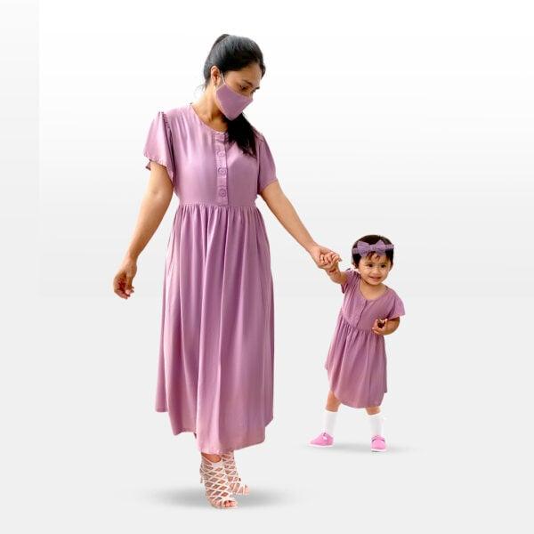 baju dress couple ibu dan anak perempuan