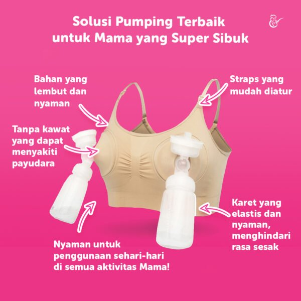 Mama's Choice Seamless Hands Free Pumping Bra