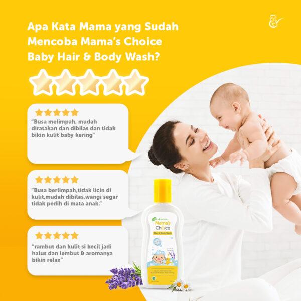Mama's Choice Baby Hair and Body Wash, sabun mandi dan shampo bayi 2in1