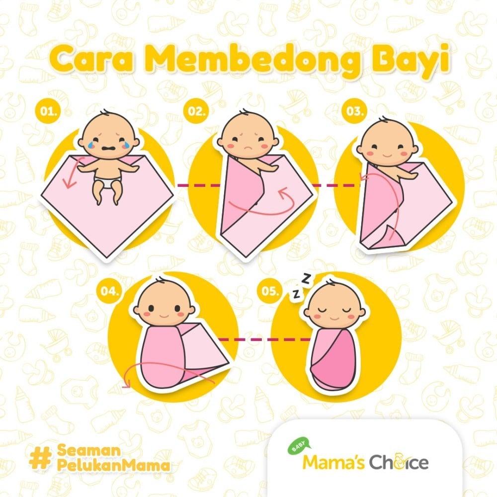 Cara Membedong Bayi Baru Lahir yang Benar dengan Gambar